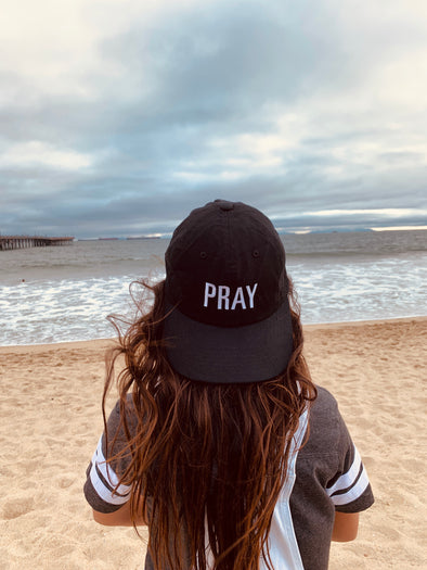Pray black dad cap