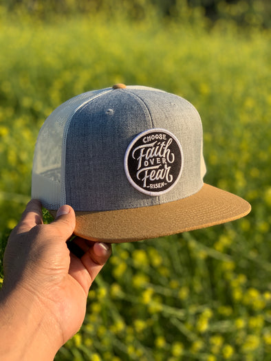 Faith over fear new trucker hat