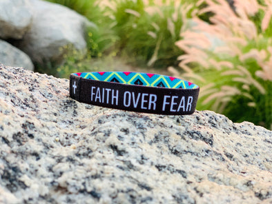Faith over fear Elastic Band