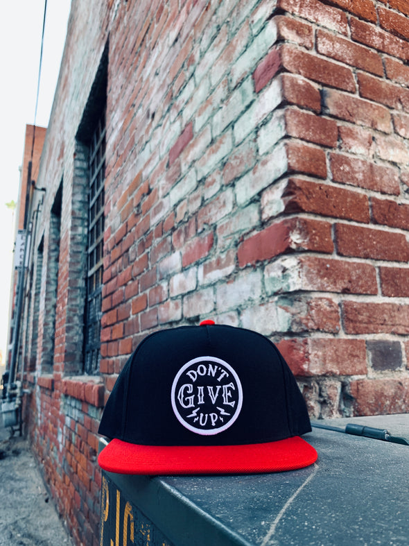 Don't give up black and red snapback