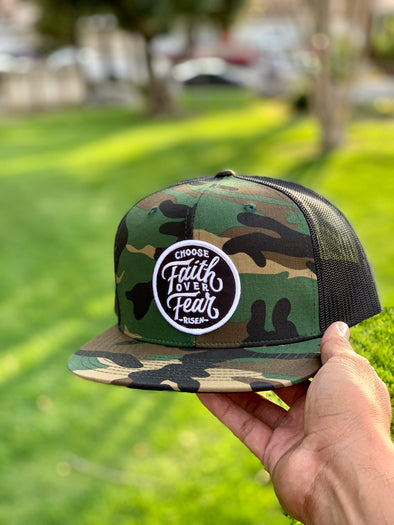 Choose faith over fear amy trucker hat