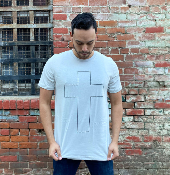 Cross gray tee