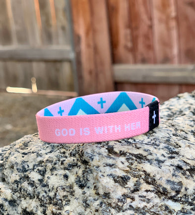 God is with her she will not fail Psalm 46:5 elastic wrist band