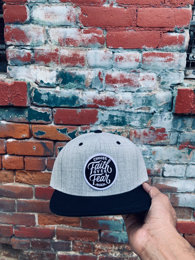 Choose faith over fear black and gray snapback