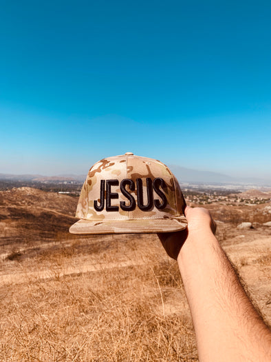 Jesus camo brown snapback