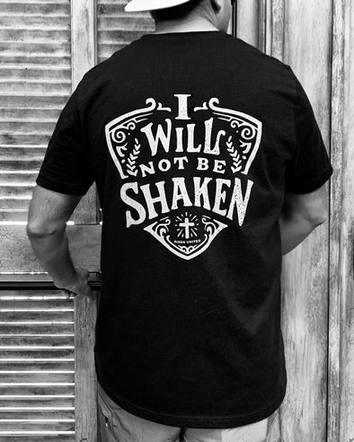 I will not be shaken black Tee