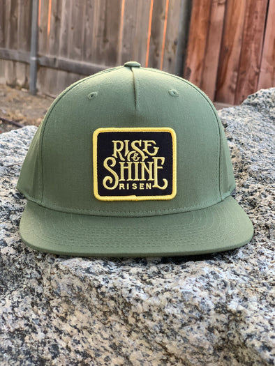 Green Rise And Shine Pinch Front Cap