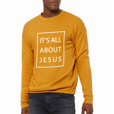 It's all about Jesus christian sweater by Risen Apparel