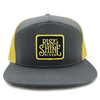 Rise and shine yellow and gray trucker hat