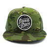 saved by grace -risen apparel camo army trucker hat