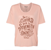 She is clothed with strength risen apparel christian t-shirt