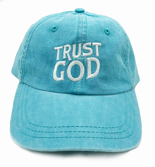Aqua Trust God Dad cap