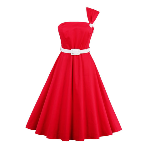 Red Illusion Dress