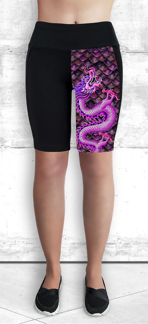 Funtastic Activewear - Pink Dragon Shorts