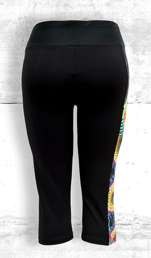 Funtastic Activewear - Golden Dragon Capri Pants