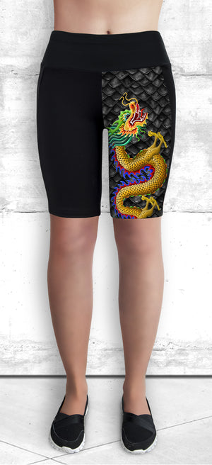 Funtastic Activewear - Golden Dragon Shorts