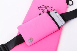Neoprene Half Paddle Bag with Phone Case - Pink, Black or Blue