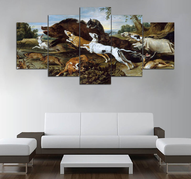 5 piece Hunting printed Canvas Wall Art DT130710