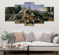 5 piece Hunting printed Canvas Wall Art DT130711