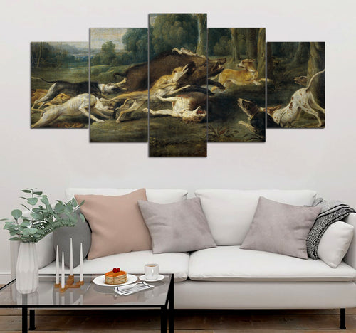 5 piece Hunting printed Canvas Wall Art DT130712
