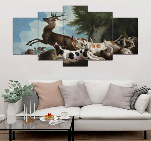5 piece Hunting printed Canvas Wall Art DT130714