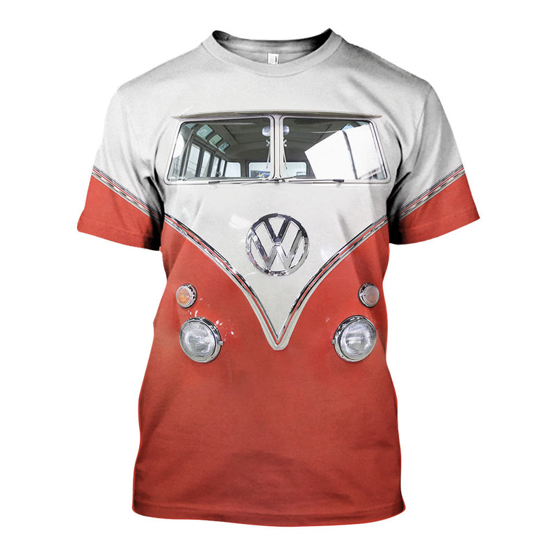 3D All Over Printed VW Type 2 Shirts And Shorts DT25061910