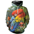 3D Printed Beautiful Parrot Hoodie T-shirt DT270401