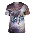 3D Printed Cat Beautiful Eye Hoodie T-shirt DT031201