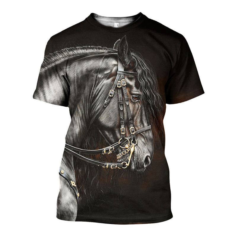 3D All Over Printed Horse Shirts And Shorts DT141107