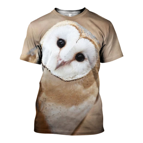 3D All Over Printed Barn owl Shirts And Shorts DT071103