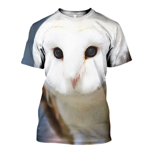 3D All Over Printed Barn owl Shirts And Shorts DT071106