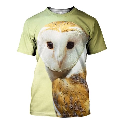 3D All Over Printed Barn owl Shirts And Shorts DT071109