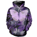 Printed Butterfly T Shirt Long sleeve Hoodie DT140502