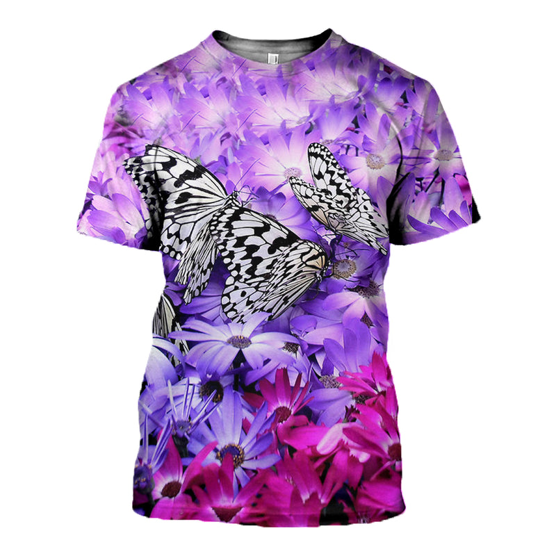 3D Printed Butterfly T Shirt Long sleeve Hoodie DT240501