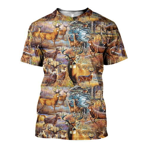 3D All Over Printed Deer Shirts And Shorts DT091101