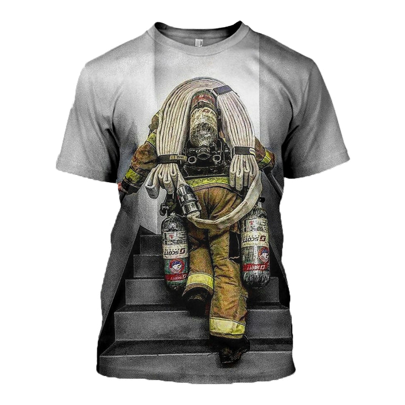 3D printed Firefighter T-shirt Hoodie DT120705