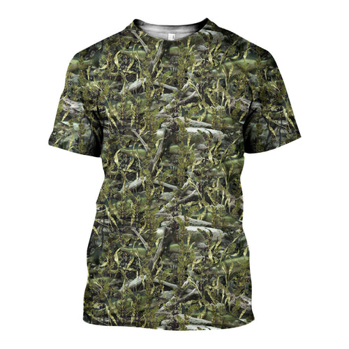 3D All Over Printed Fish Camo Shirts And Shorts DT091105
