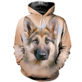 3D Printed German Shepherd Hoodie T-shirt DT050508
