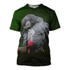 3D Printed Grey Parrot T Shirt Long sleeve Hoodie DT310502
