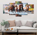 5 piece Horses printed Canvas Wall Art DT300805
