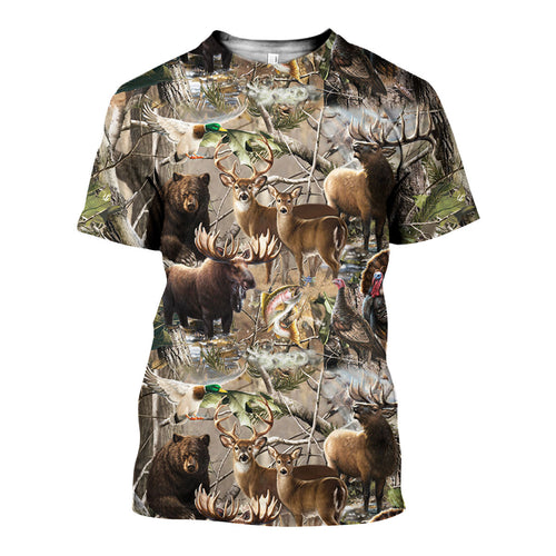 3D All Over Printed Hunting Camo Shirts And Shorts DT301003