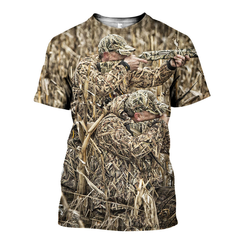3D All Over Printed Duck Hunting Shirts And Shorts DT081103