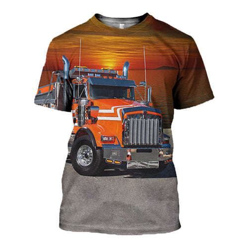 3D Printed Kenworth T Shirt Long sleeve Hoodie DT210607