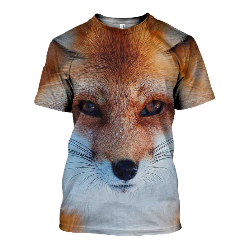 3D printed Red Fox T-shirt Hoodie DT040703
