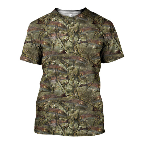 3D All Over Printed Fishing Camo Shirts And Shorts DT091103