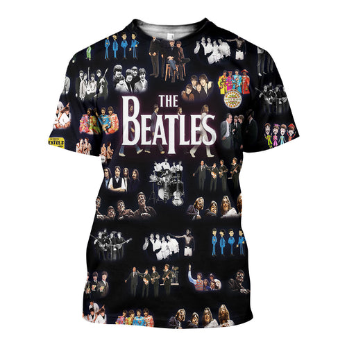 3D All Over Printed The Beatles Shirts And Shorts DT071108