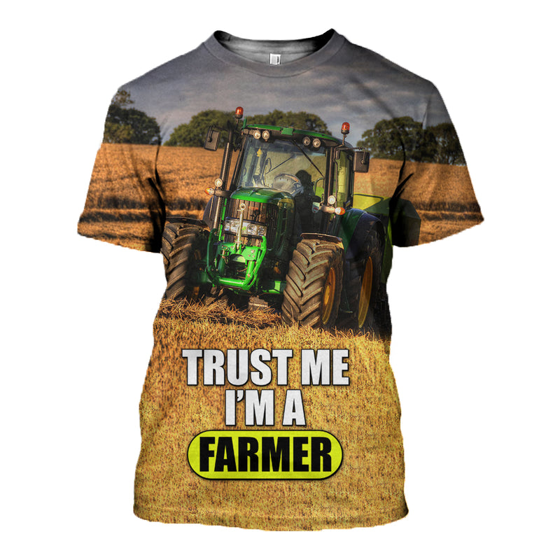 3D Printed Farmer T Shirt Long sleeve Hoodie DT270601
