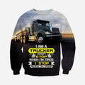 3D Printed Trucker T Shirt Long sleeve Hoodie HD260602