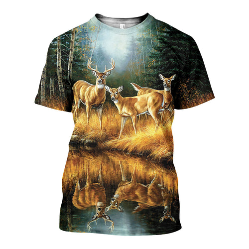 3D All Over Printed Whitetail Deer Shirts And Shorts DT301004