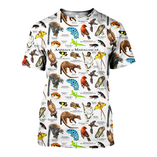 3D All Over Printed Animals Of Madagascar Shirts And Shorts DT251206